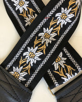 Souldier Straps Gardenia White Flower on Black - Harbor Music