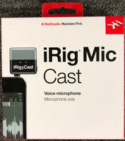 iRig Mic Cast Microphone for iPhone, iPod touch, iPad and Android - Harbor Music