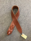 "Long Hollow Leather 2.5"" Latigo Guitar Strap 78020 - Harbor Music"