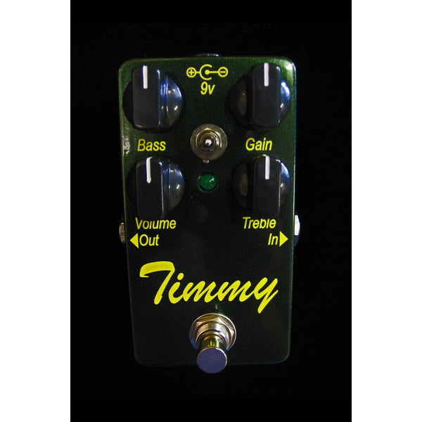 Timmy Overdrive Pedal by Paul Cochrane Custom Harbor Music Green Sparkle/Yellow Lettering - Harbor Music