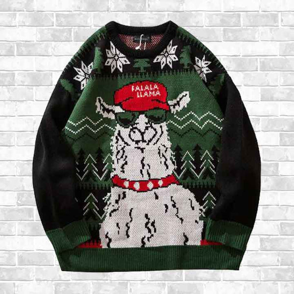 """CHRISTMAS LAMA"" SWEATER"