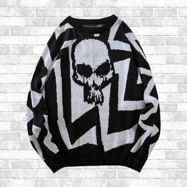 """SKULL HINTER"" SWEATER"
