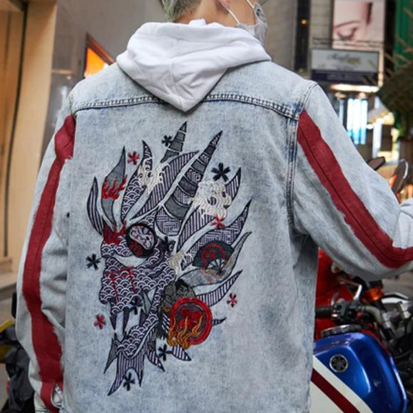 """STREET DRAGON"" DENIM JACKET"