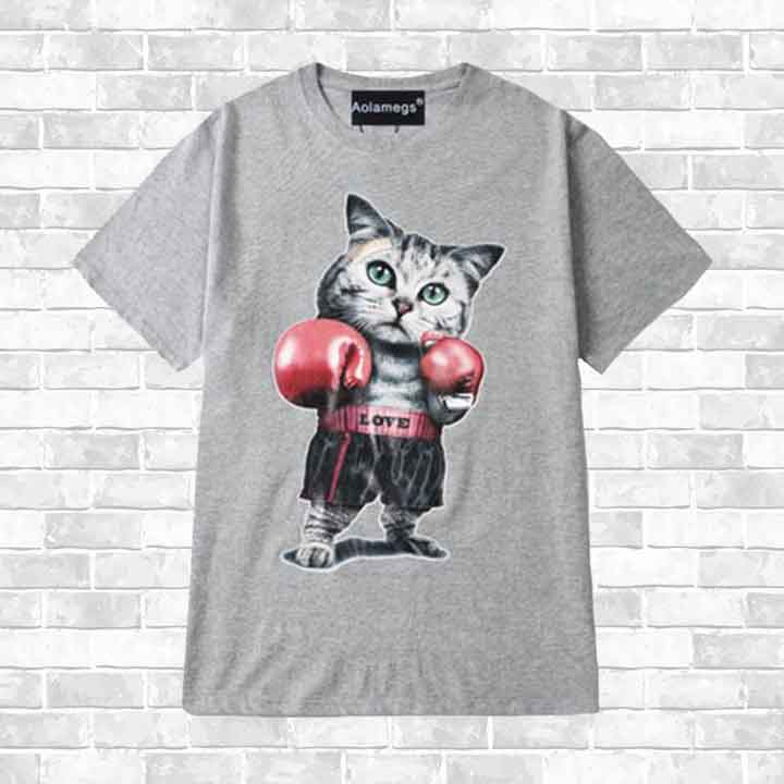 """CAT BOXING"" T-SHIRT"