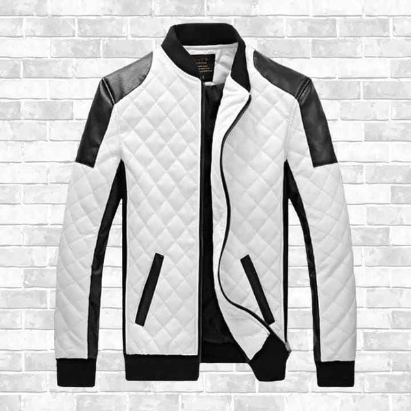 """CHESS STYLE"" LEATHER JACKET"
