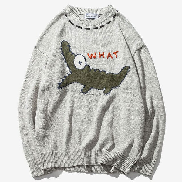 """WHAT"" SWEATER"