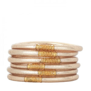 Champagne BuDhaGirl Bangles- Stack of 6