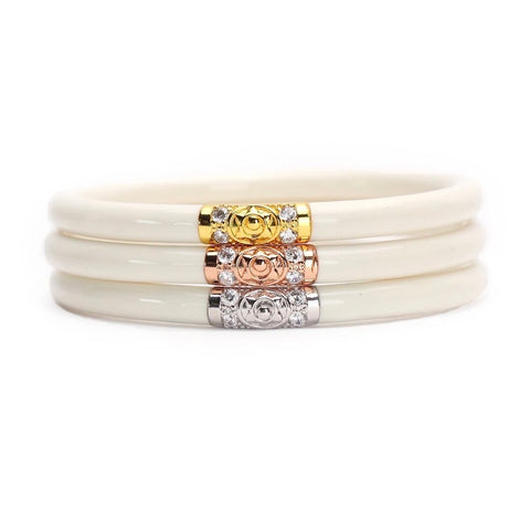 Three Kings BuDhaGirl Bangles - Ivory