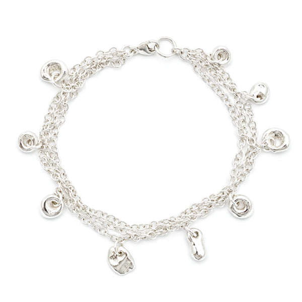 Three Chain Tiny Charm Bracelet - Johanna Brierley Jewellery Design