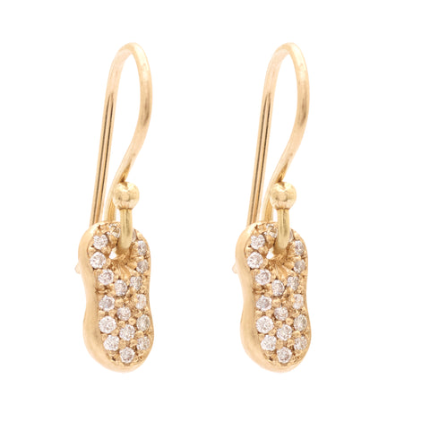 Peanut Pave Hook Earrings - Johanna Brierley Jewellery Design