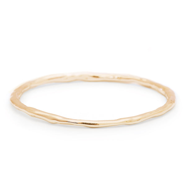 Smaller Melt Bangle in 18k Yellow Gold