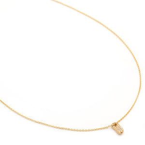 Peanut Pave Gold Necklace - Johanna Brierley Jewellery Design
