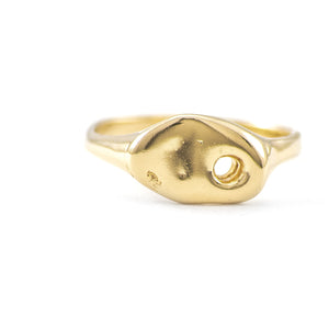 Gold Flip Ring - Johanna Brierley Jewellery Design