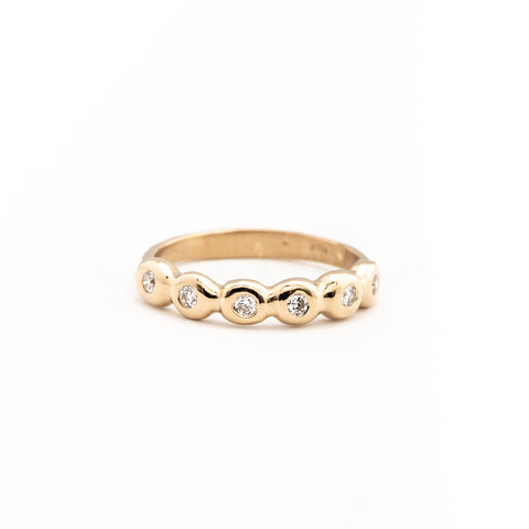 6 Dot Gold Diamond Ring