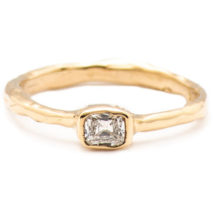 Melt Solitaire with an Old Mine Cut - Johanna Brierley Jewellery Design