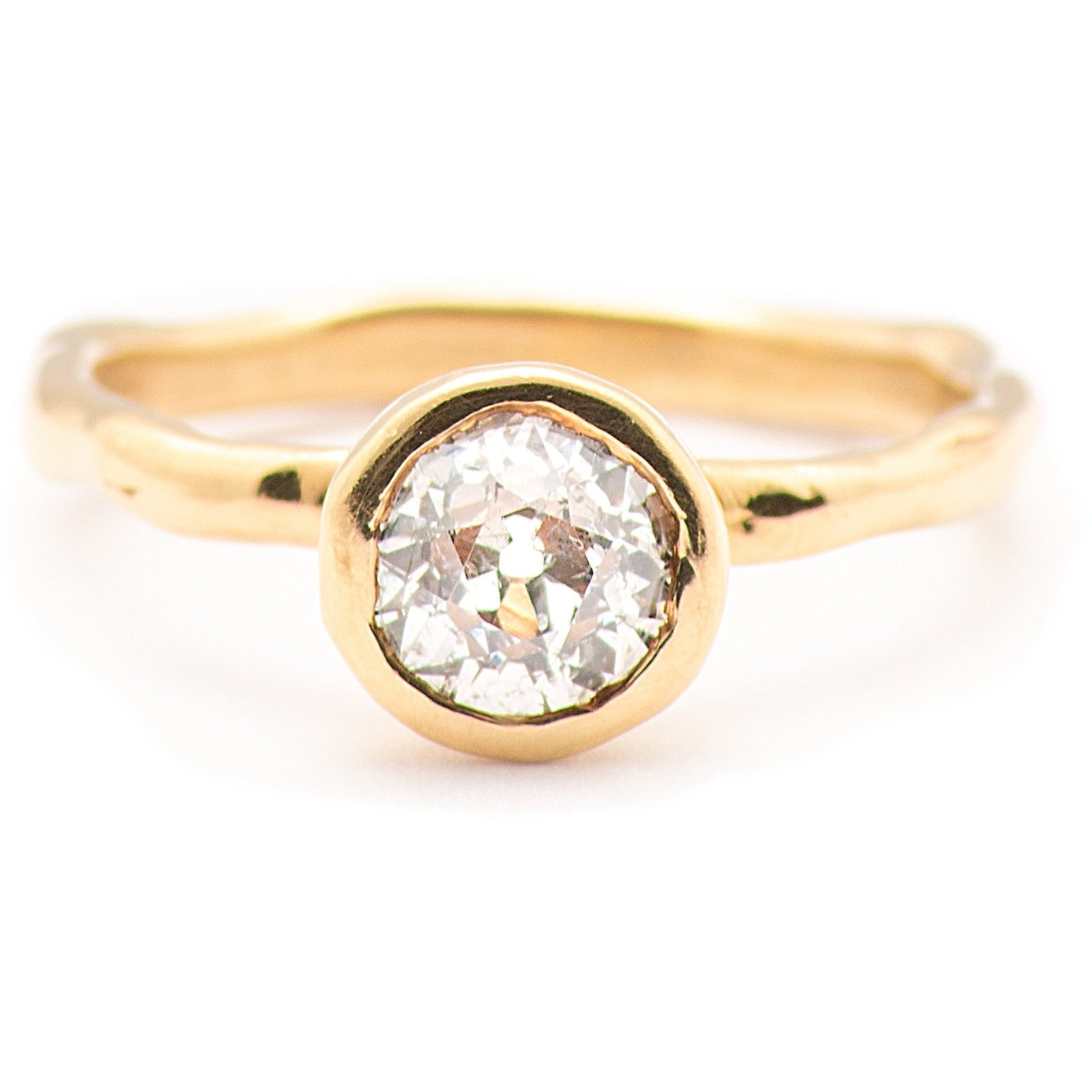 Quintessential JBJD Melt Gold Solitaire - Johanna Brierley Jewellery Design