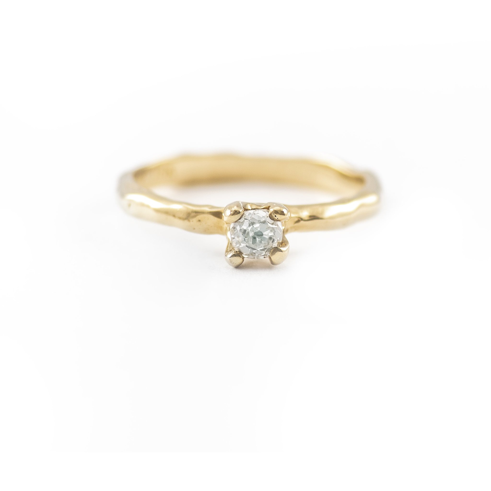 One of a Kind Gold Prong Melt Ring - Johanna Brierley Jewellery Design