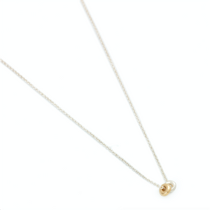 Double Dot Necklace in Gold and Silver