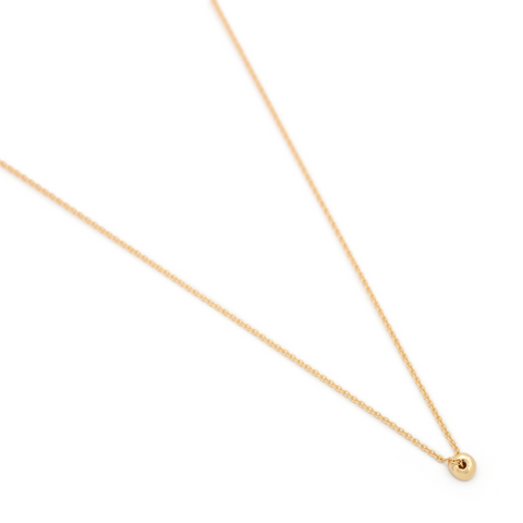One Dot Gold Necklace