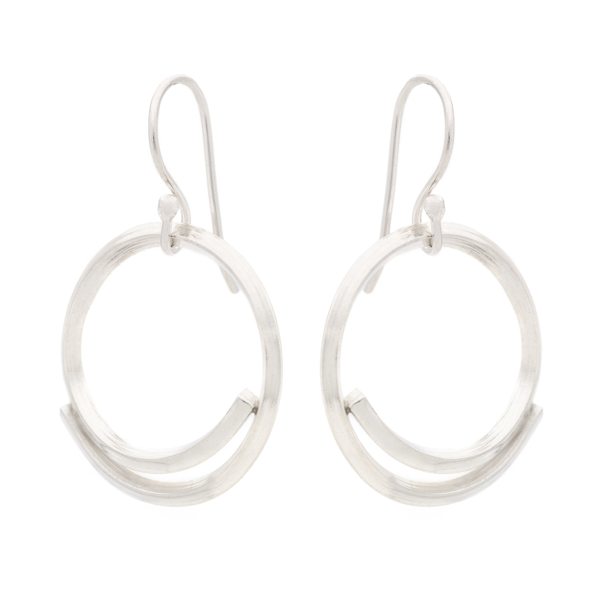 Small Square Stick Circle Earrings - Johanna Brierley Jewellery Design
