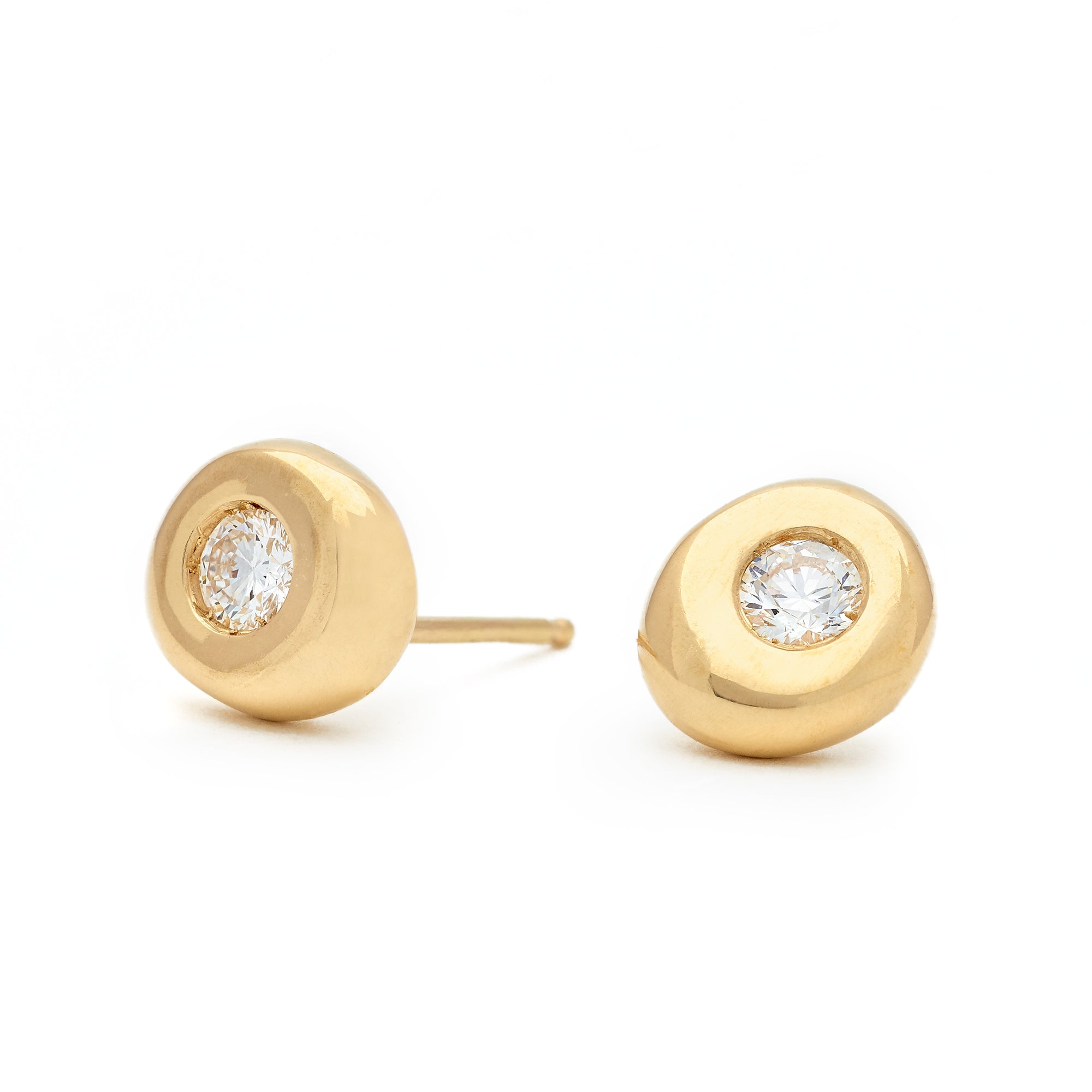 Berry Gold Stud Earrings - Johanna Brierley Jewellery Design