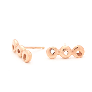 Triple Dot Gold Stud Earrings - Johanna Brierley Jewellery Design