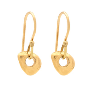 Absence Gold Earrings - Johanna Brierley Jewellery Design