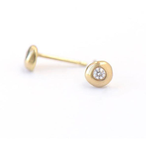 Dot Gold Earrings - Johanna Brierley Jewellery Design