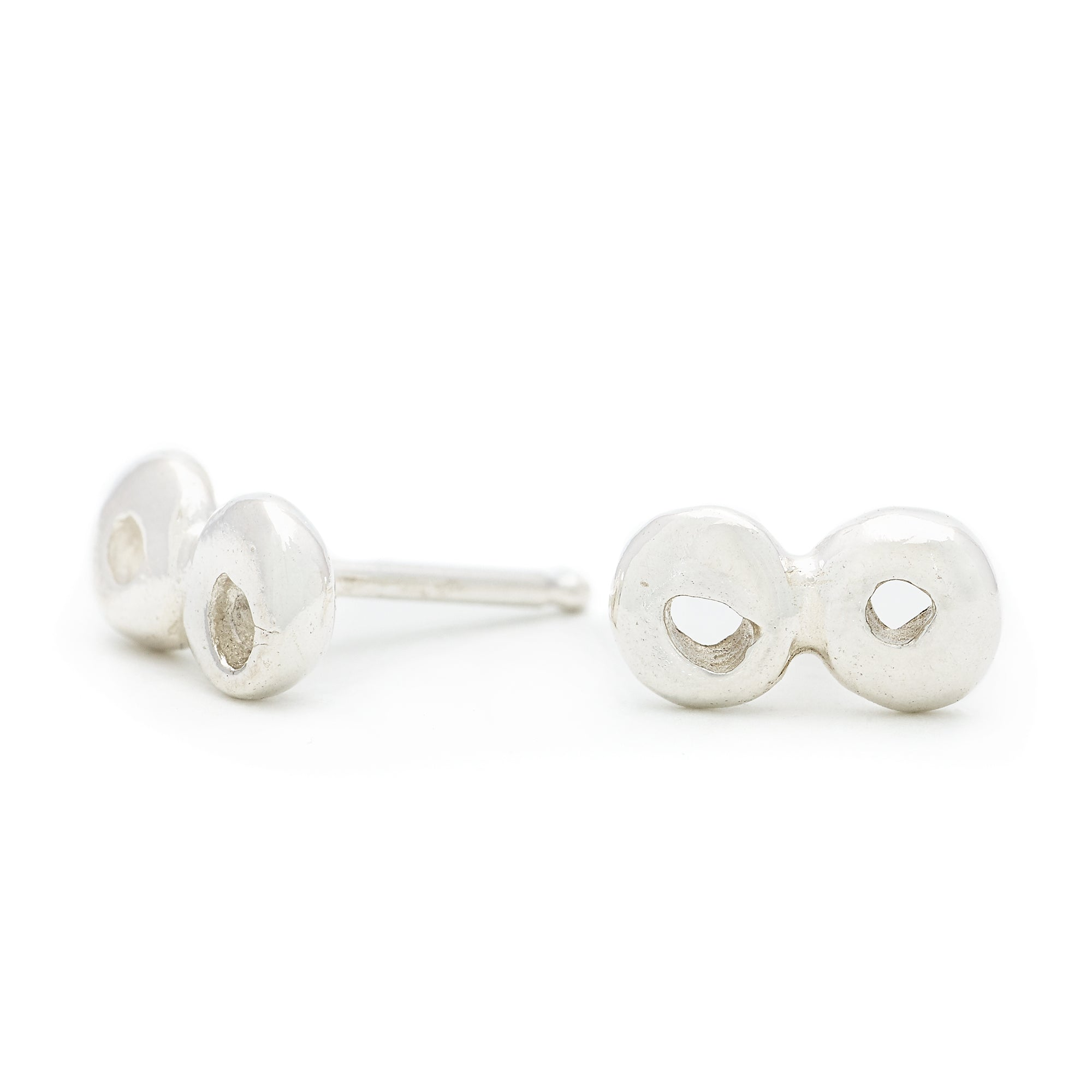 Double Dot Stud Earrings - Johanna Brierley Jewellery Design