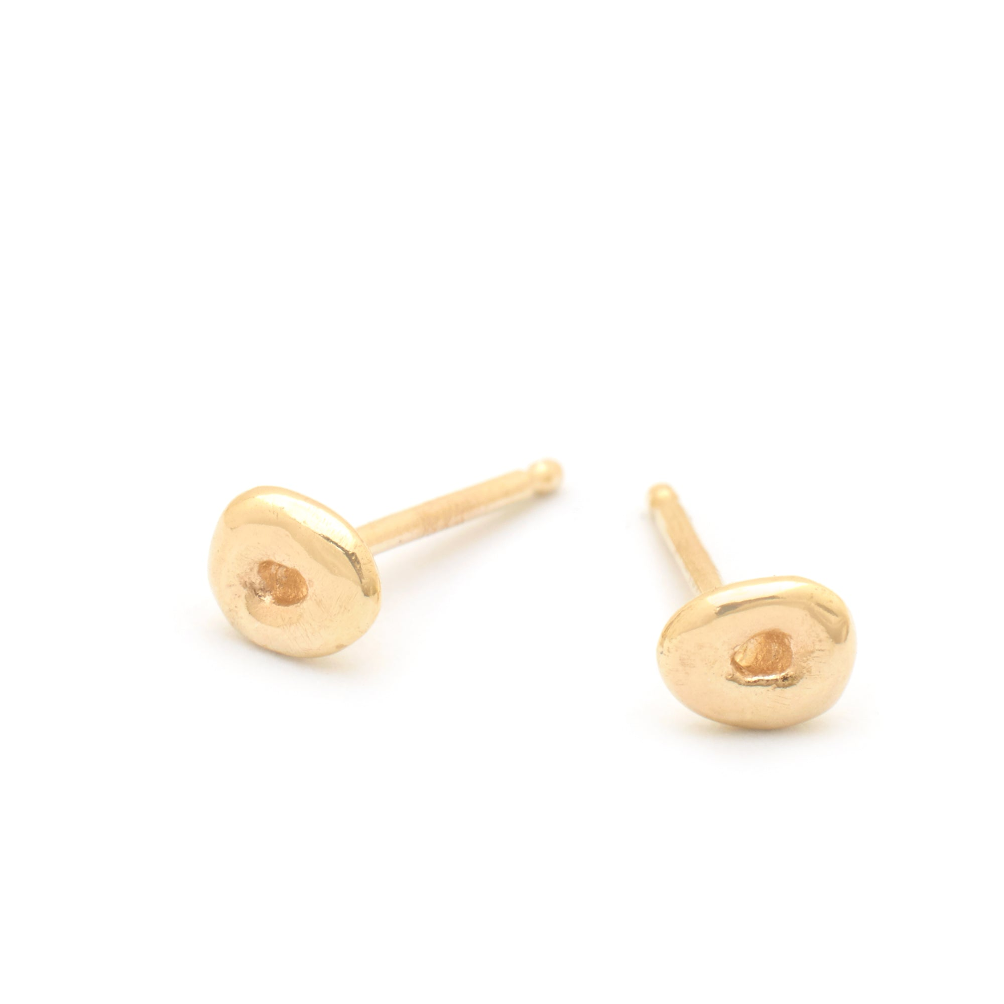 Freckle Gold Stud Earrings - Johanna Brierley Jewellery Design