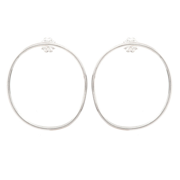 Small Round Hoop Stud Earrings - Johanna Brierley Jewellery Design