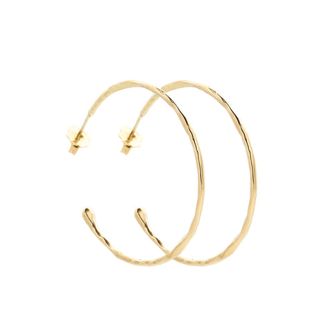 Large Melt Gold Hoops