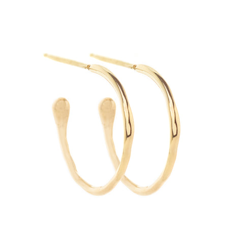 Medium Melt Gold Hoops