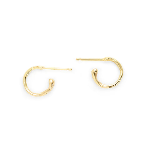 Small Melt Gold Hoops