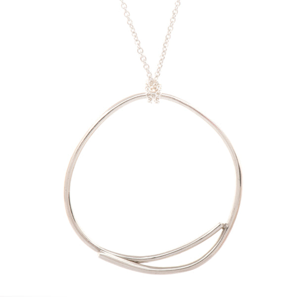 Oval Stick Circle Necklace - Johanna Brierley Jewellery Design