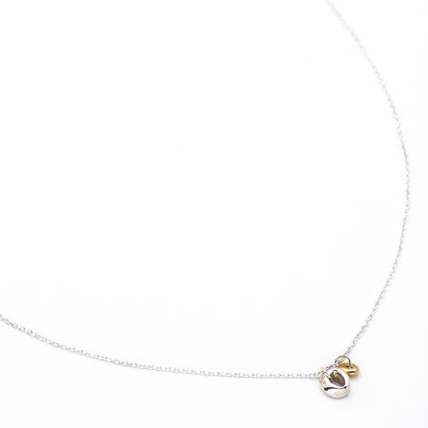 Georgia Silver & Freckle Gold Necklace - Johanna Brierley Jewellery Design