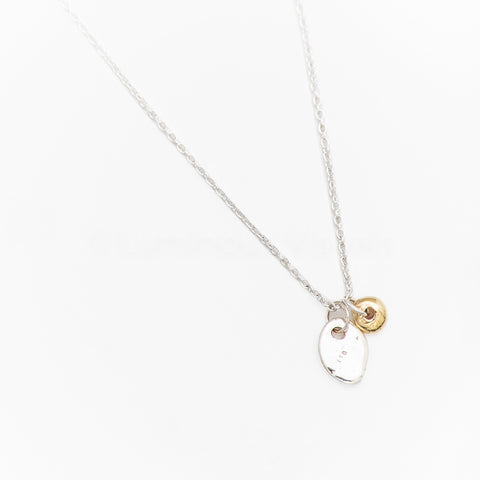 Penguin Silver & Dot Gold Necklace