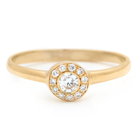 Quil Solitaire Gold Ring - Johanna Brierley Jewellery Design