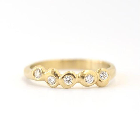 5 Dot Band Ring - Johanna Brierley Jewellery Design