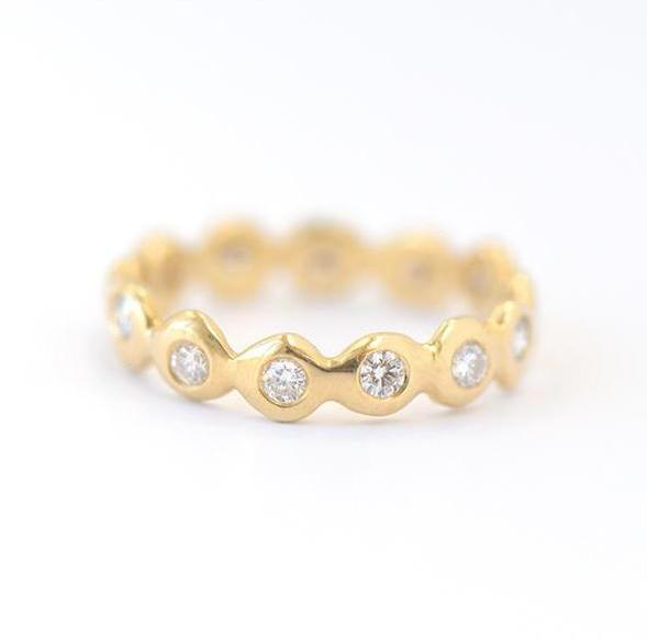 Dot Around Gold Band - Johanna Brierley Jewellery Design