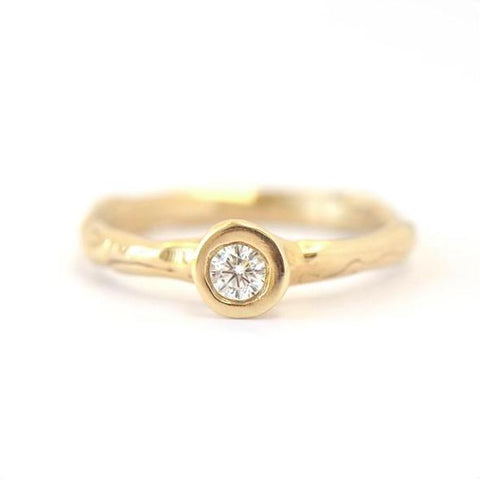 Melt Solitaire Ring - Johanna Brierley Jewellery Design