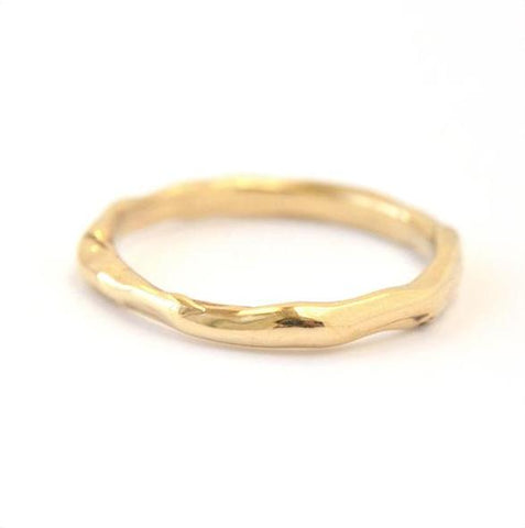 Thin Melt Gold Band - Johanna Brierley Jewellery Design