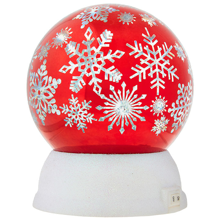 "5.75"" Snowflake Lighted Globe"