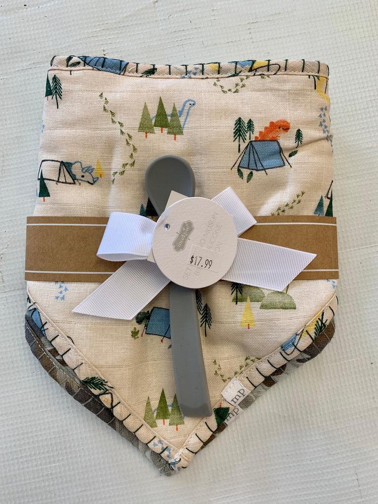 Camo Muslin Bib & Spoon Set
