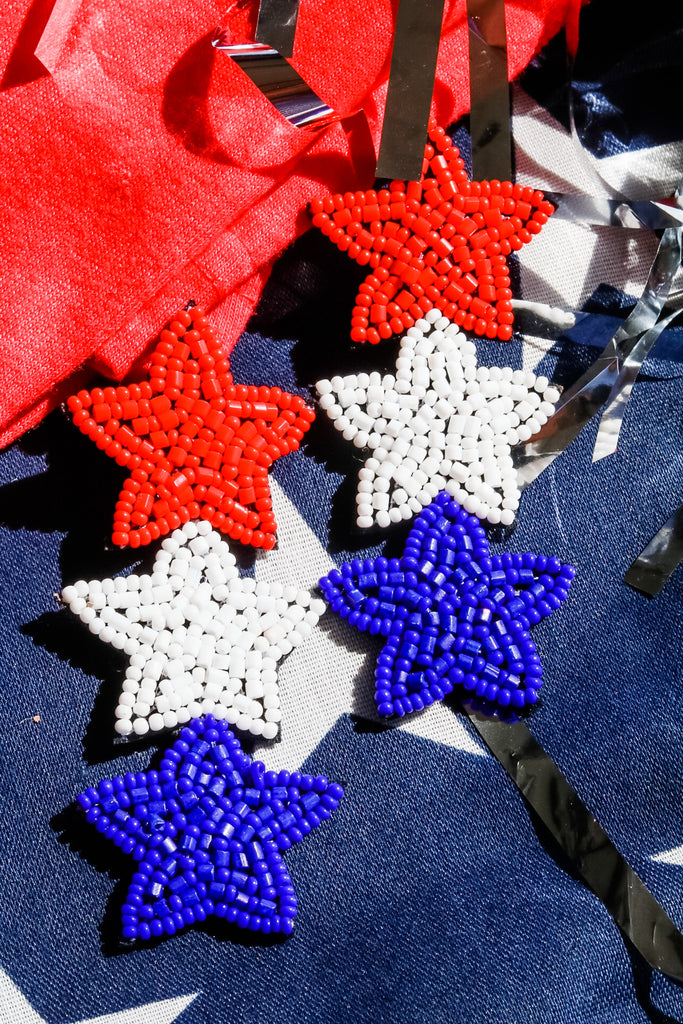 Star Beaded Earrings