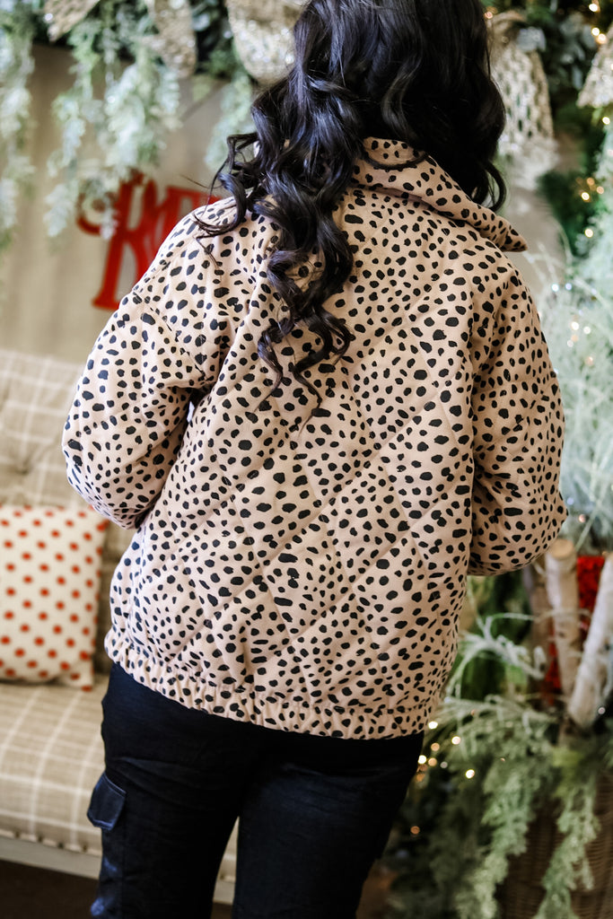 Cheetah Quilted Jacket