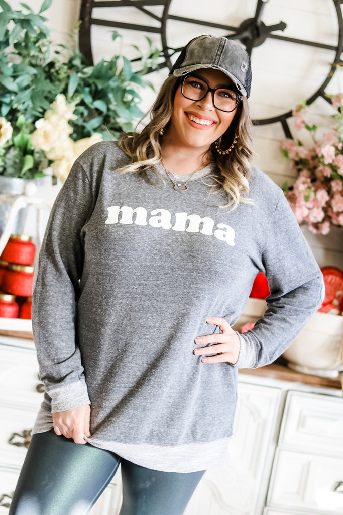 mama elbow patch top