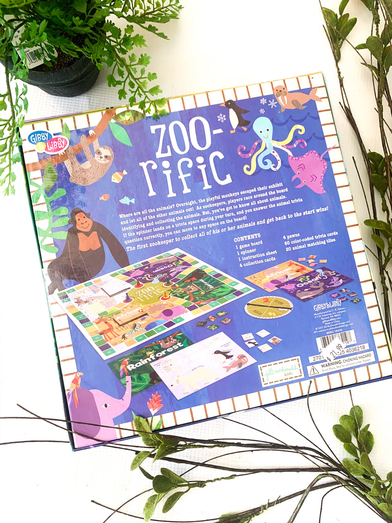 Zoo- Rific Family Matching and Trivia Board Game