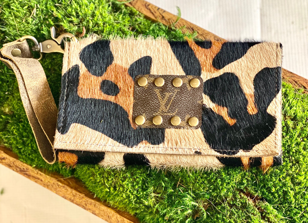 Leopard Up-Cycle Designer Clutch