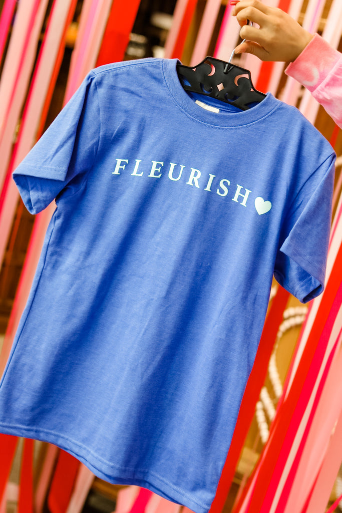 fleurish blue short sleeve